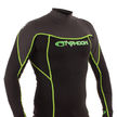 Mens Long Sleeve Rash Vest Black/Graphite/Lime