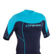 Mens Short Sleeve Rash Vest Navy II/Cyan
